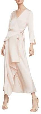BCBGMAXAZRIA Asymmetrical Wrap Sheath Dress
