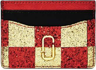 Marc Jacobs Snapshot Glitter Checkerboard Card Case