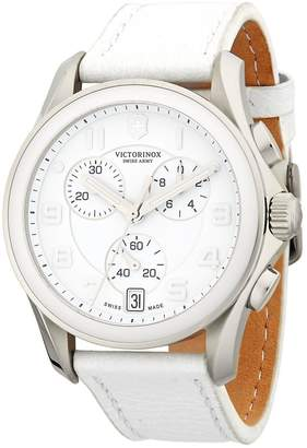 Victorinox Men's Stainless Steel Leather-Strap Watch