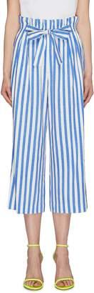 Alice + Olivia 'Loni' tie stripe paperbag gaucho pants