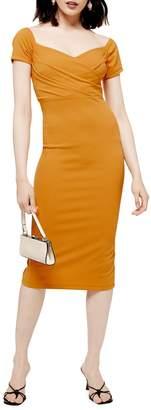 Topshop Bardot Wrap Dress
