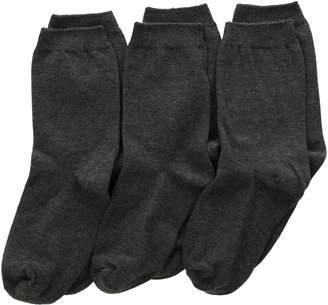 Jefferies Socks Big Boys' School Uniform Cotton Crew (Pack of 3)