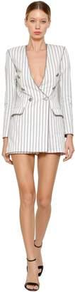 Faith Connexion Striped Cotton Mini Jumpsuit