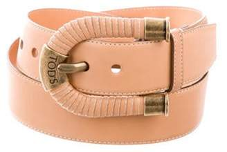 Tod's Leather Waist Belt Tan Leather Waist Belt
