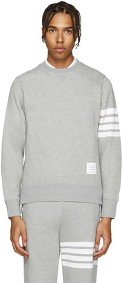 Thom Browne Grey Classic Pullover $510 thestylecure.com