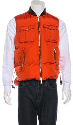 DSQUARED2 Leather-Trimmed Down Gilet