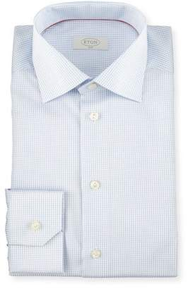 Eton Slim-Fit Grid Check Dress Shirt