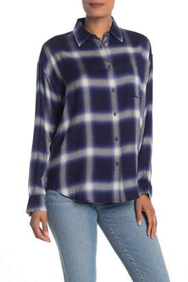Vince Plaid Collared Utility Shirt