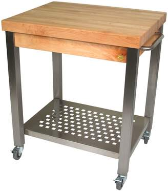 John Boos & Co Cucina Technica Cart with Hard Maple Top