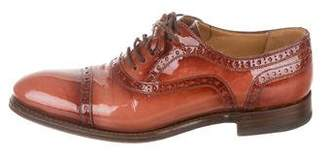 Gucci Patent Leather Brogue Ocfords