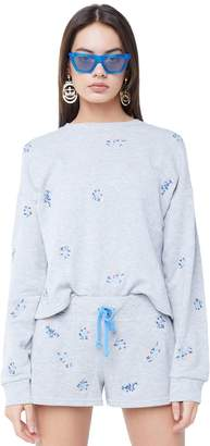 Juicy Couture Wildflower Embellished French Terry Pullover