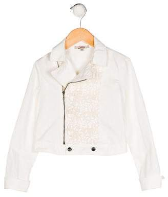 Junior Gaultier Girls' Crochet-Trimmed Jacket