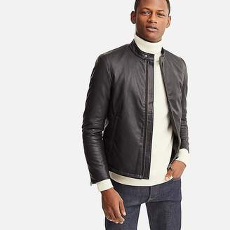 Uniqlo Men's Faux Leather Single-breasted Jacket