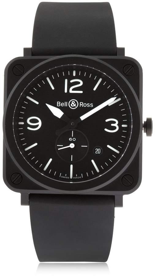 Mattschwarze Armbanduhr Aus Keramik
