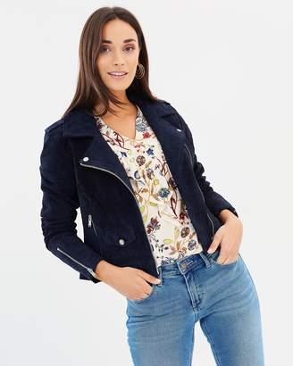 Only Grace Suede Biker Jacket
