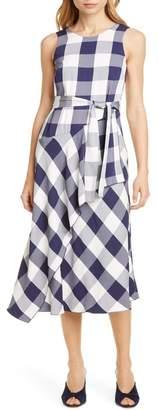 Karen Millen Fluid Gingham Dress