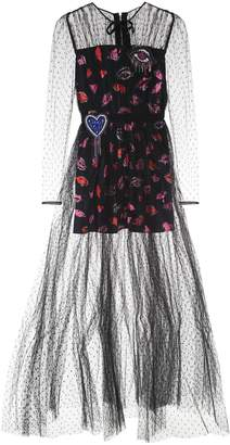 MSGM Embroidered Tulle Dress