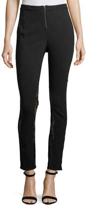 Haute Hippie The Thorny Rose Skinny Pants with Lace Inserts