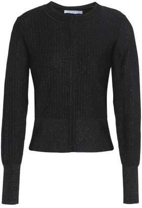 Sandro Nancy Metallic Ribbed-knit Top