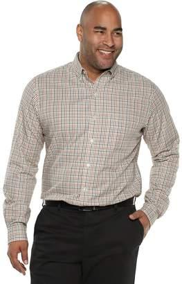 Van Heusen Big & Tall Flex Non-Iron Classic-Fit Plaid Button-Down Shirt