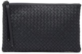 Christopher Kon Woven Leather Pochette Bag