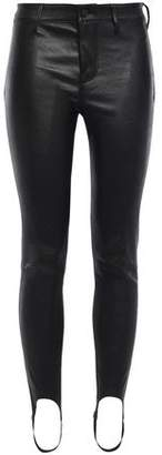 RtA Leather Stirrup Leggings