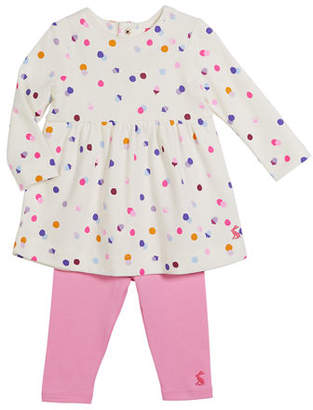 Joules Christina Confetti Top w/ Leggings, Size 3-24 Months