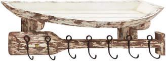 Uma Enterprises Wood & Metal Wall Shelf Hook