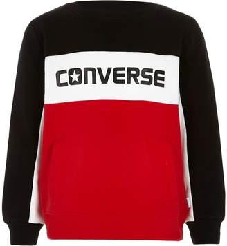 River Island Boys Converse red colour block sweatshirt