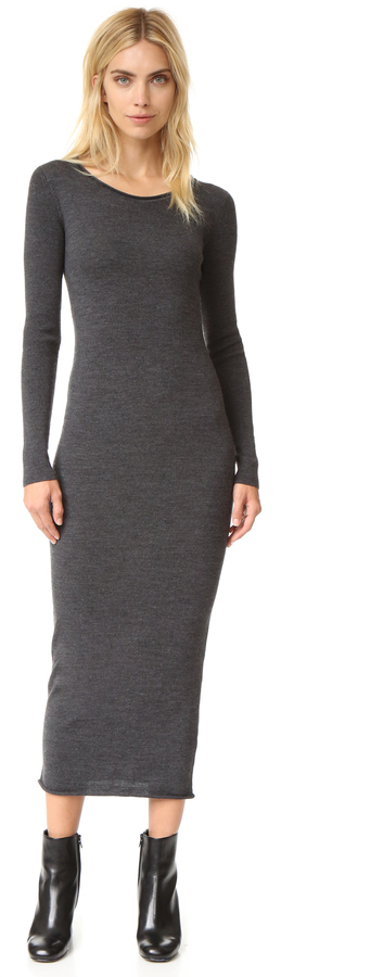 T by Alexander Wang Merino Roll Neck Sweater Dress