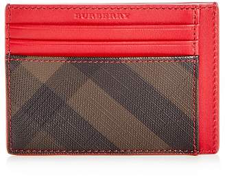 Burberry Bernie Check Leather Card Case