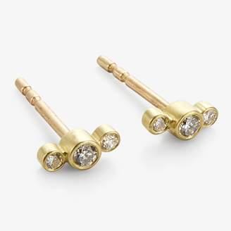 Kothari Double Node Studs Diamond, Gold