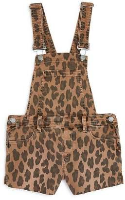 Blank NYC BLANKNYC Girls' Leopard Print Overall Romper - Big Kid