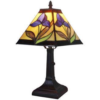 Tiffany & Co. AMORA Amora Lighting AM078TL08 Style Mission Design Mini Table Lamp Purple