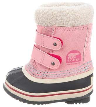 Sorel Girls' Shearling-Trimmed Snow Boots