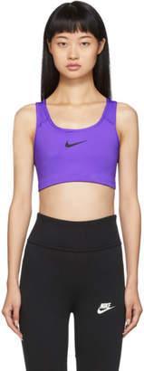 Nike Purple Swoosh Bra