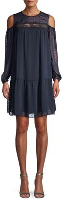 ABS by Allen Schwartz Cold-Shoulder Mini Dress