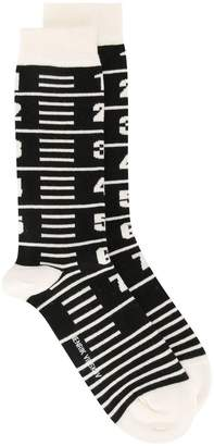 Henrik Vibskov Measure Tape socks