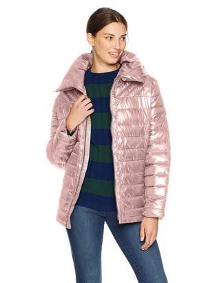 Big Chill Women's Plus Size Multi-Quilted Puffer Jacket