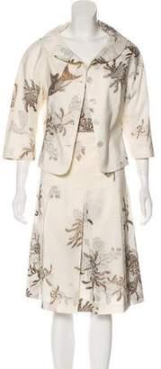 Rena Lange Metallic Patterned Dress Set