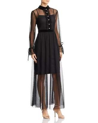Betsey Johnson Point D'Esprit Maxi Dress