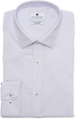 Ryan Seacrest Distinction Men's Ultimate Active Slim-Fit Non-Iron Performance Stretch Check Blue Graph Check Dress Shirt, Created for Macy's