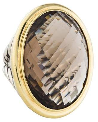 David Yurman Smoky Quartz Oval Cocktail Ring