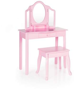 Guidecraft Classic Vanity and Stool Pink