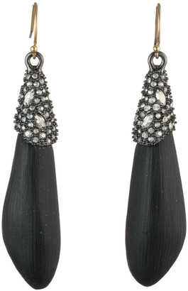 Alexis Bittar Crystal Encrusted Capped Wire Earring