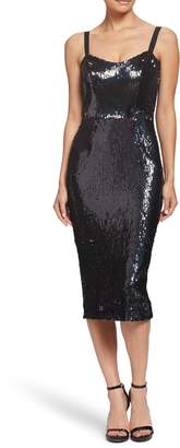Dress the Population Lynda High Shine Sequin Cocktail Sheath Dress