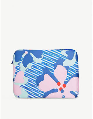 Soda Sunglasses Sally Cheung Hibiscus Blue neoprene laptop case 33cm