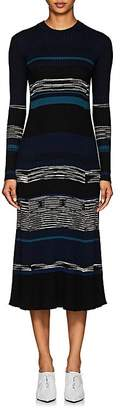 Proenza Schouler Women's Striped Wool-Blend Midi-Sweaterdress