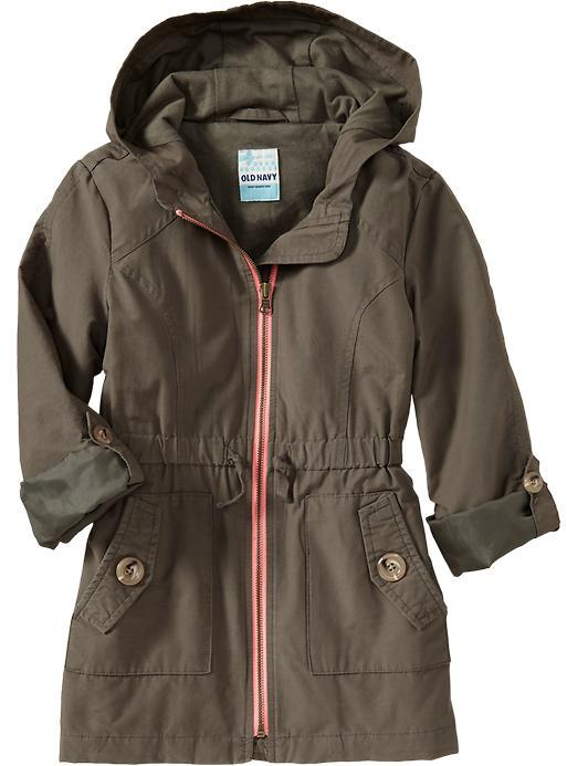 Old Navy Girls Hooded-Jersey Jackets