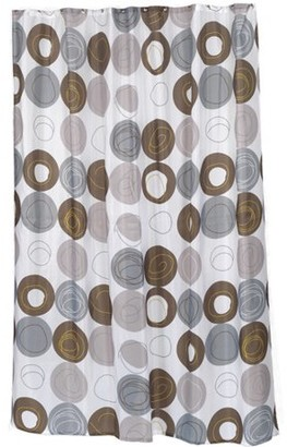 """Carnation Home Fashions Extra Long """"Madison"""" Fabric Shower Curtain, Size 70"""" Wide x 96"""" Long"""